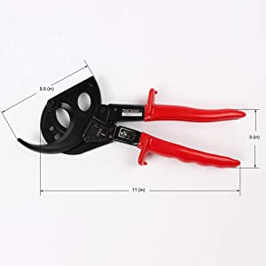 Ratchet Cable Cutters Cable Wire Cutter Hand Tools HS-520A Cut up to 400mm² by LUKIA (Tamaño: 400mm²)