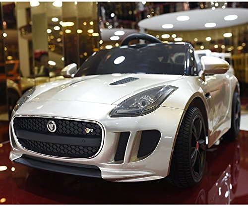 jaguar f type 12v kids ride on battery powered wheels car with 24ghz rc remote champagne