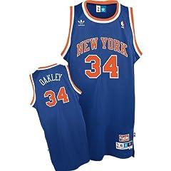Charles Oakley Throwback New York Knicks Blue #34 NBA adidas Swingman Basketball... by adidas