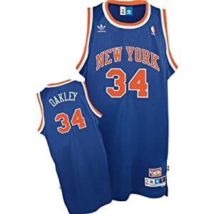 Charles Oakley Throwback New York Knicks Blue #34 NBA adidas Swingman Basketball... by adidas