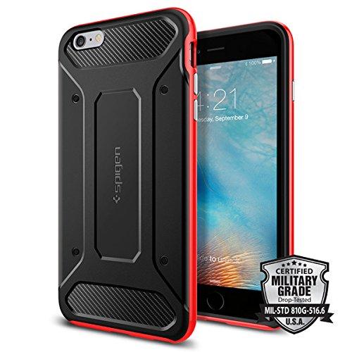 Spigen iPhone6s Plus ケース / iPhone6 Plus ケース, ネオ・ハイブリッド カーボン [ 米軍MIL規格取得 二重構造 TPU カーボンテクスチャー ] アイフォン6s Plus / 6 Plus用 (ダンテ・レッド SGP11668)