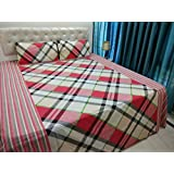 JMT(100% Heavy Stuff Pure Cotton Double Bedsheet With 2 Pillow Cover,size -230x250 Cms, Pillow - 69x46 Cms) - B074D32F5V