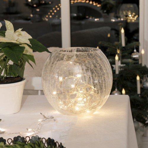 LED Micro-Lichterkette für innen, 10 weiße Kerzen