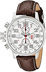 """Invicta Men's 2771 """"Force Collection"""" Stainless Steel Left-Handed Watch with Brown Leather Band"""