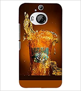 PrintDhaba Beer Glass D-2086 Back Case Cover for HTC ONE M9 PLUS (Multi-Coloured)
