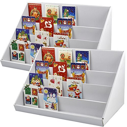 Yahee-2-teilig-Kartenstnder-Postkartenstnder-Kartenhalter-jede-4-Fcher