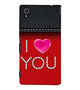 99Sublimation I love You lot 3D Hard Polycarbonate Back Case Cover for Sony Xperia M4 Aqua, Sony Xperia M4 Aqua Dual