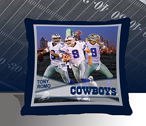 Nfl Biggshots Bedding - Dallas Cowboys Tony Romo Toss Pillow, 18-Inch front-411791