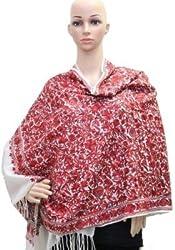 Matelco cream kashmiri embroidery stole