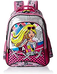 Barbie Polyester 16 Inch Multi Color Children's Backpack (MBE - MAT129)