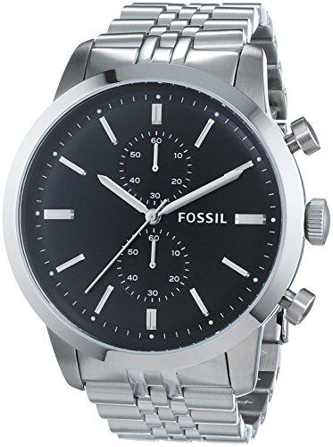 Fossil FS4784 - Orologio da polso uomo, acciaio inox, colore: argento