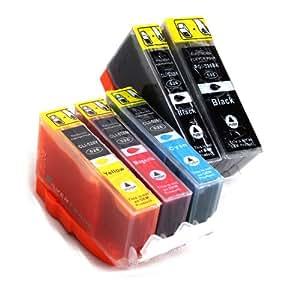 5x Tintenpatronen mit Chip CLI-526/PGI-525 kompatibel zu Canon für Canon Pixma IP4950 IP4850 MG5340 MG5250 MG5350 MG6250 MG8120 MG8240 MG6150 MG8250 MG5150 MG6120 MG5200 MG8150 MX885 MX715 MX884 MX895 IX6550