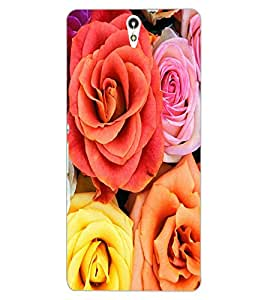 ColourCraft Beautiful Roses Design Back Case Cover for SONY XPERIA C5 ULTRA