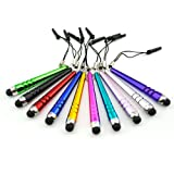 iClover - Bundle of 9 PCS SHORT Colorful Stylus Pen Set Black/Blue/Red/Yellow/Purple/Green/Pink & more Stylus Touch Screen Cellular Phone & Tablet Pen for iPhone 3G/S, 4G/S, iPod Touch, iPad 2 & 3, SONY PLAYSTATION, PSP PS VITA, Motorola Xoom, Samsung Galaxy SII & SIII, BlackBerry, Barnes & Noble Nook Color, Droid Bionic