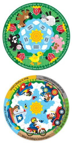 Cheap Melissa & Doug Circular Floor Puzzle Bundle – Farm Friends and Vehicle Fun 2 Puzzle Bundle (B00164XNLW)