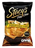 Stacys Pita Chips, Parmesan Garlic & Herb, 8-Ounce Bags (Pack of 12)