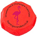 Flamingo Candles Strawberries & Champagne Scent Melt - Red