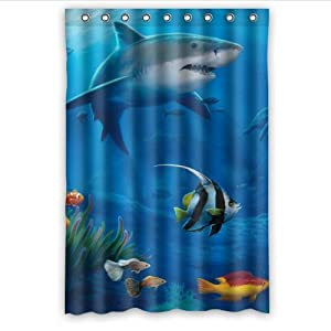 Special design tropical fish waterproof for Tropical fish shower curtain