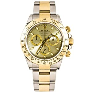 Rolex 40mm Stainless Steel & 18K Gold Daytona Model 116523 Slate Stick Dial Inner Bezel Engraving Model