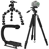 "Shop Smart Deals Professional Heavy Duty Photo Video Support: Includes 80"" Heavy Duty Tripod, Scorpion Vertical... - B01ESAUEVC"