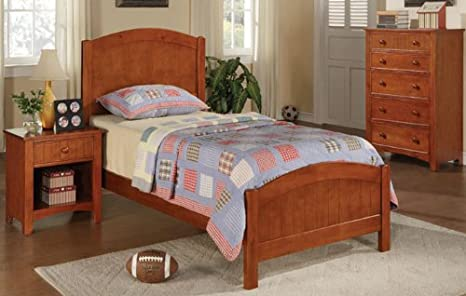 Inland Empire Furniture Oak Solid Wood Twin Bed Set