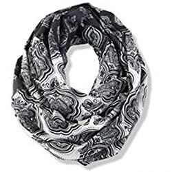Mud Pie Jaipur Infinity Scarf (Black)