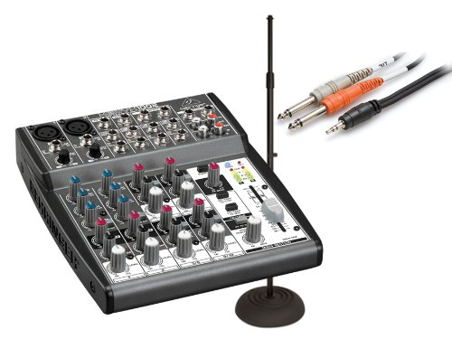 Behringer Xenyx 1002 Mixer With Js-Mcrb100 Mic Stand