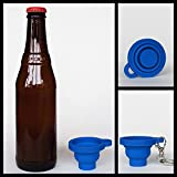 Poppinshot Collapsible Silicone Shot Glass Keychain, 2 Pack. (Blue)
