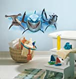 (18x40) Finding Nemo Sharks Peel and Stick Giant Wall Decals