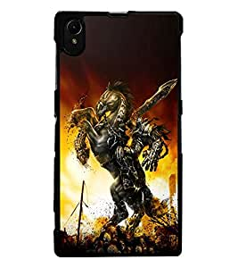 ColourCraft The Warrior Design Back Case Cover for SONY XPERIA Z1