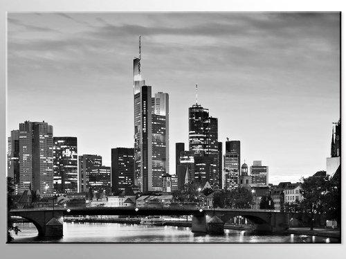 Bilderdepot24 Leinwandbild Frankfurt am Main - 70x50cm - fertig gerahmt, direkt vom Hersteller