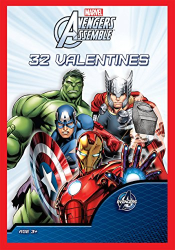 Paper Magic 32CT Showcase Avengers Assemble Kids Classroom Valentine Exchange Cards - 1