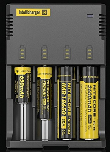 2016 Version NITECORE i4 Intellicharger Battery Charger (Color: Black)
