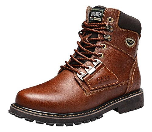 Guciheaven Winter Men New Style Caual Leather Fashion Martin Boots(9 D(M)Us, Coffee)