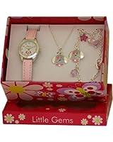 Coffret Cadeau Filles Little Gems de Ravel: Montre + Collier Petit Chien + Bracelet Amulette.R2218