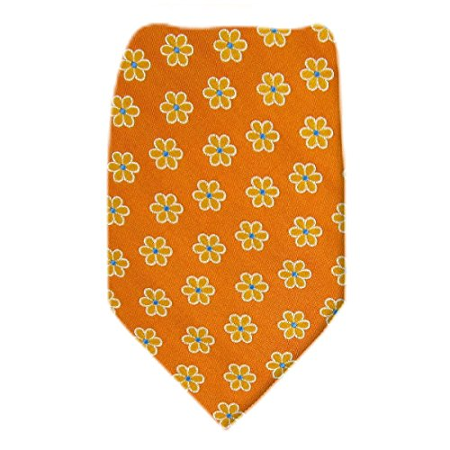 Ted-1857 - Ted Baker Mens Tie - Silk - Orange - Gold