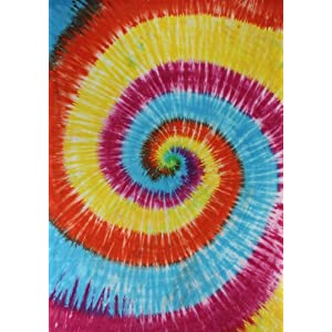 Spiral Tie-Dye Tapestry Tapestry