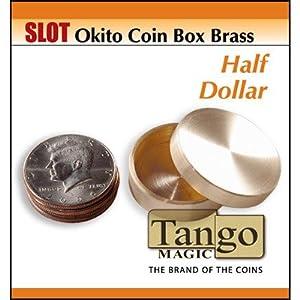Slot Okito Coin Box Brass Half Dollar by Tango - Trick