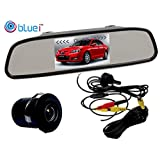 Bluei - Car Rearview Mirror 4.3 Inches L.E.D Display With Backup Parking Camera - Volkswagen Passat