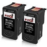 FUZOO (2 Black) Canon PG-210XL Rema