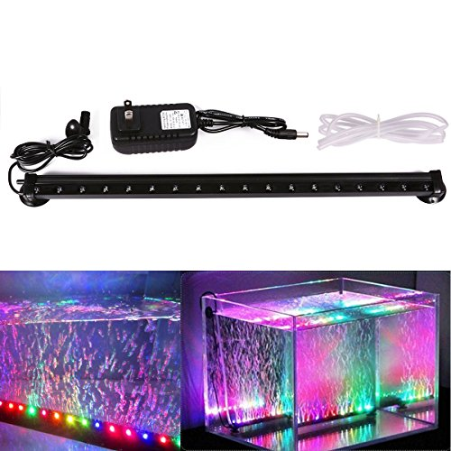 Xcellent Global Multi Color Changing 18 Inch 18 RGB LED Underwater Submersible Aquarium Fish Tank LED Lights Air Bubble Lights M-LD081S (Fish Bubbles compare prices)