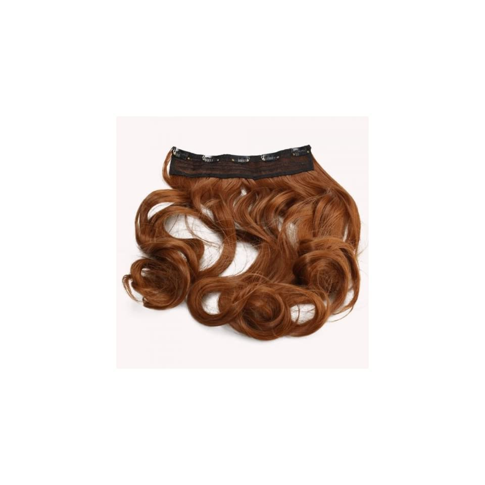 Fast shipping + Free tracking number , 23.6 inch Curly Wig Hair Extension with Clip Golden Brown Wigs Elegant Beauty Accessory for Women Girl Lady