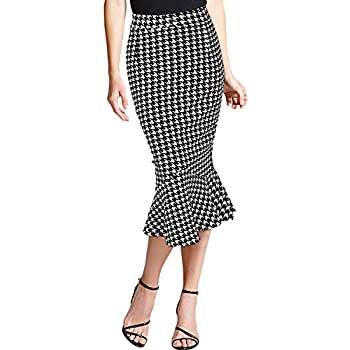 Miusol Women's Vintage Casual Fitted Business Fishtail Pencil Skirt