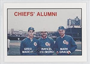 Mark Grace Greg Maddux Rafael Palmeiro (Baseball Card) 1988 Peoria Chiefs Team Issue... by Peoria Chiefs Team Issue