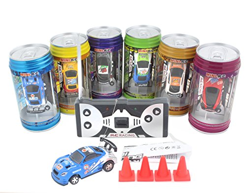 Mini Coke Can Speed Rc Radio Remote Conrtol Micro Racing Car with Led Lingts Toys Kids Gift (Car In A Can compare prices)
