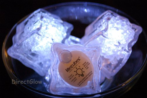 Set-of-6-Litecubes-Brand-3-Mode-White-Light-up-LED-Ice-Cubes