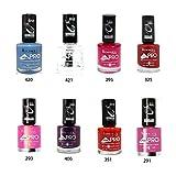 Rimmel London Lycra Pro Nail Polish set of 8 pc