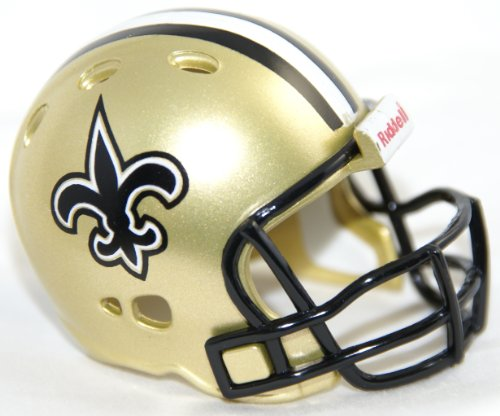 NEW ORLEANS SAINTS NFL Riddell Revolution POCKET PRO Mini Football Helmet