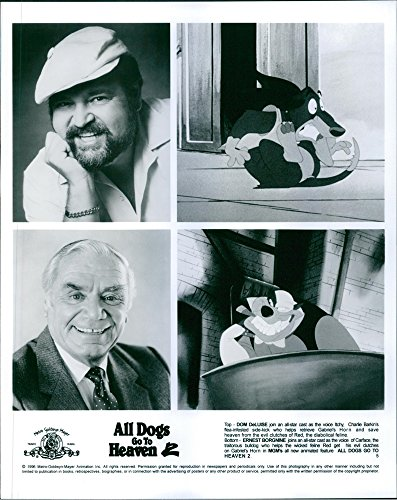 vintage-photo-of-dom-deluise-and-ernest-borgnine-lend-their-voice-in-the-film-all-dogs-go-to-heaven-