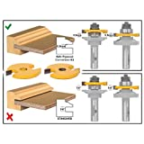 Yonico 12202 5.5mm Rail and Stile Router Bit Plywood Conversion Kit